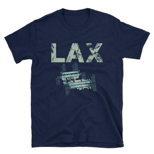 LAX Los Angeles International Airport Diagram Gildan 64000 Unisex Softstyle T-Shirt Blue-ish