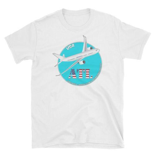 World Airports ATL Hartsfield–Jackson Atlanta International Airport IATA Code Gildan 64000 Unisex Softstyle T-Shirt