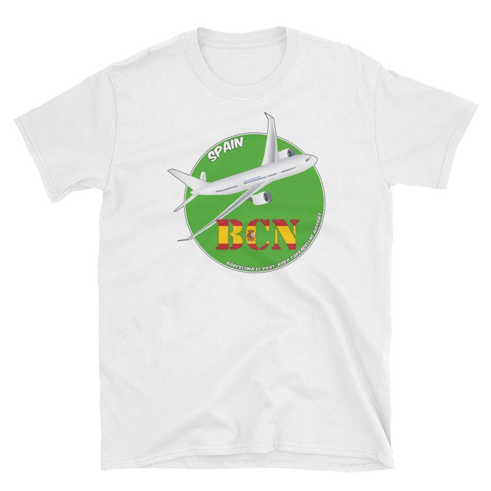 WORLD Airports MAD Adolfo Suárez Madrid–Barajas Airport IATA Code Gildan  64000 Unisex Softstyle T-Shirt