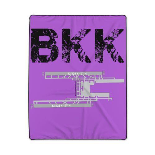 BKK Suvarnabhumi Bangkok International Airport Polyester Blanket