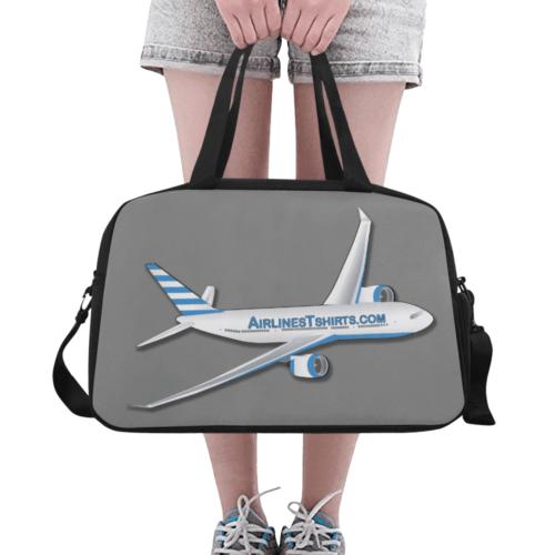airlinestshirt logo Tote And Cross-body Travel Bag (asphalt)